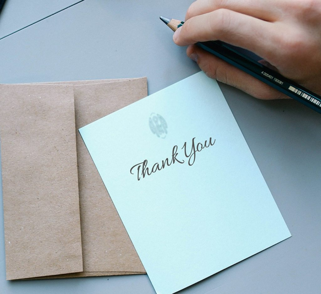 thank you card for adult birthday party