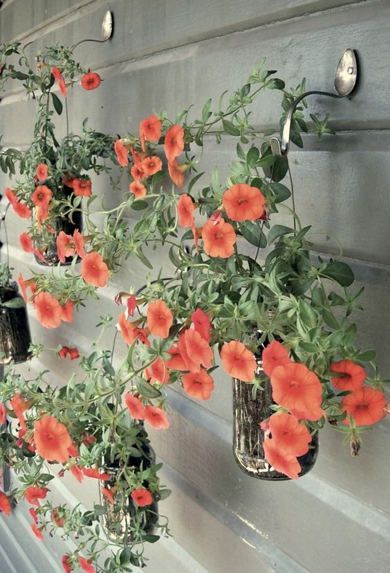 DIY upcycled hanging garden for idea