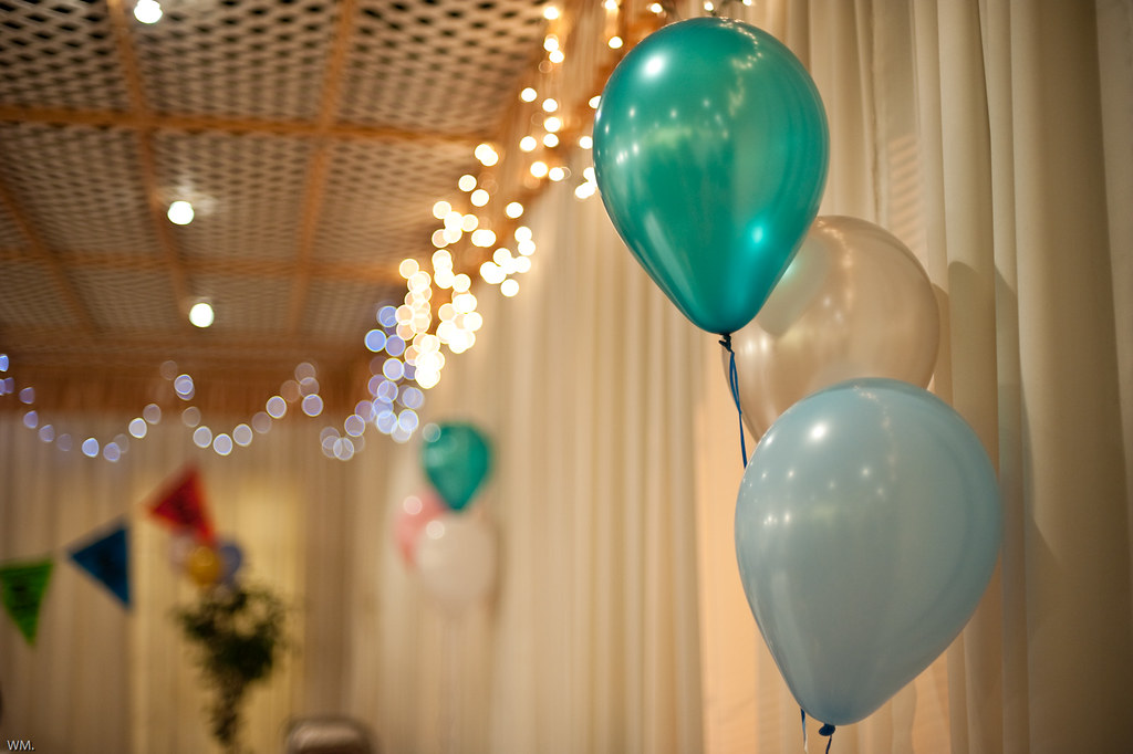 balloons for decorations.