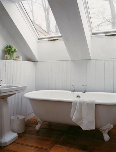 dormer windows in attic bathroom
