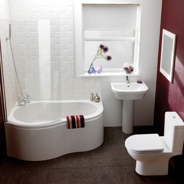 addition of corner tub is one of the best  small shower ideas